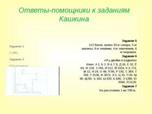 Ответы-помощники к заданиям Кашкина Задание 1 У=895 Задание 2 875 деревьев За
