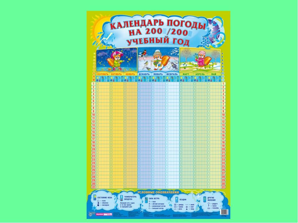 Календарь погоды в детском саду шаблоны, открытки картинки