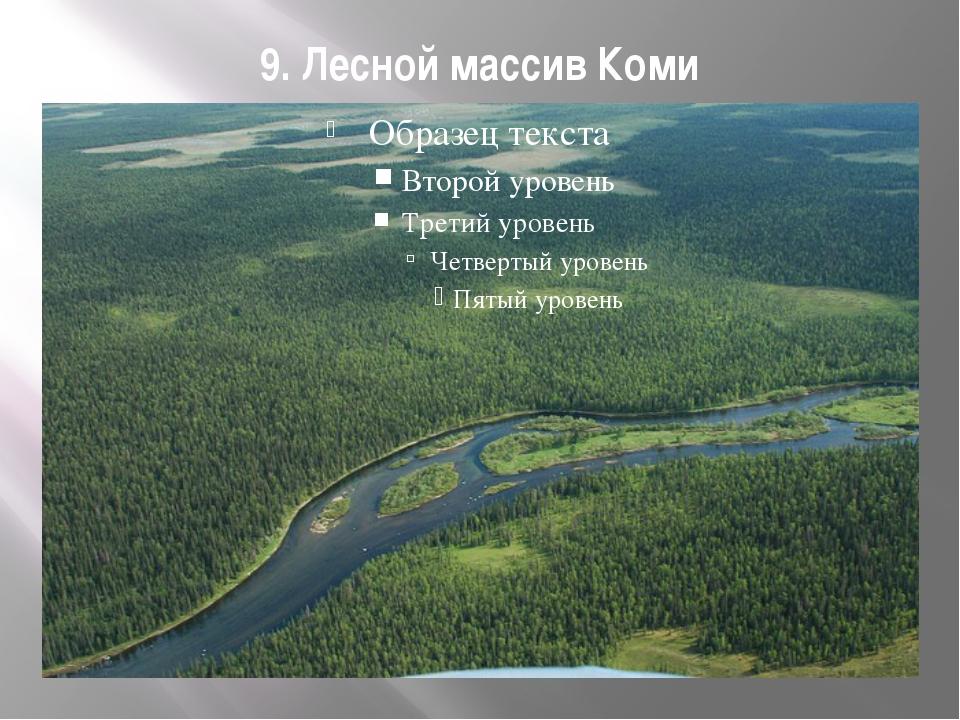 9. Лесной массив Коми