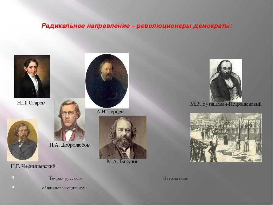 Радикальное направление – революционеры демократы: Теория русского Петрашевц...