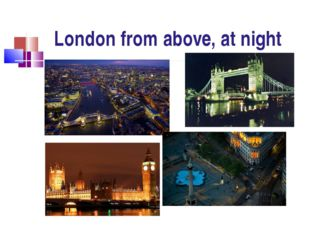 London from above, at night