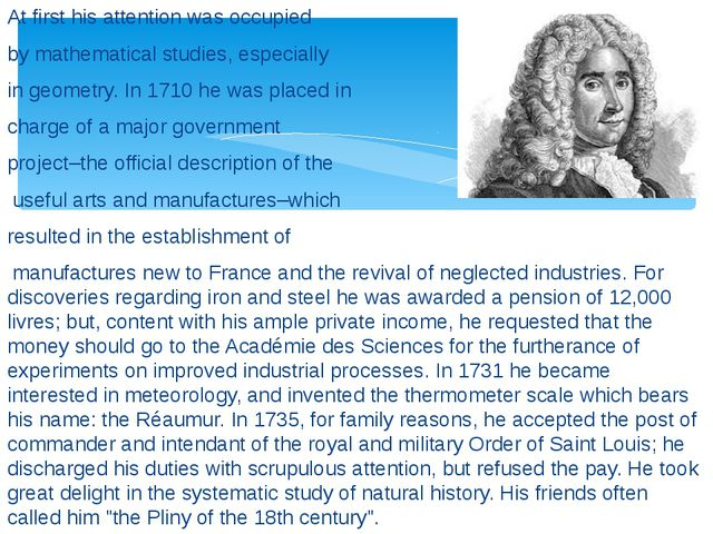 At first his attention was occupied by mathematical studies, especially in ge...