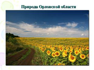 Природа Орловской области