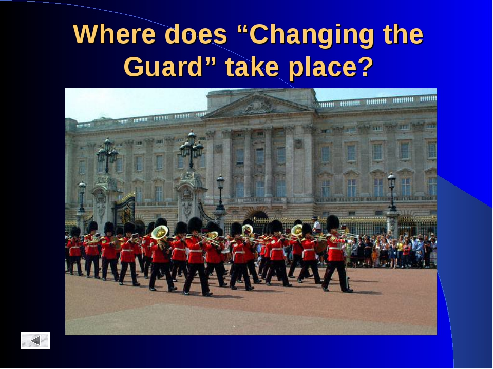 "Where does ""Changing the Guard"" take place?"