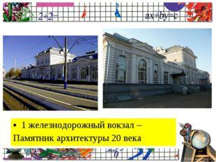 1 железнодорожный вокзал – Памятник архитектуры 20 века ProPowerPoint.Ru