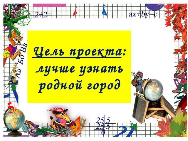 Цель проекта: лучше узнать родной город ProPowerPoint.Ru