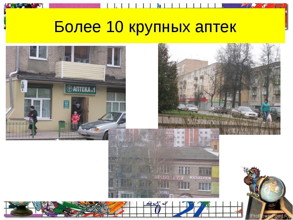 Более 10 крупных аптек ProPowerPoint.Ru