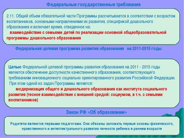 Федеральные государственные требования 2.11. Общий объем обязательной части П...