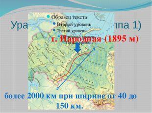 Уральские горы (группа 1) г. Народная (1895 м) более 2000 км при ширине от 40