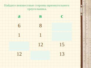 Ковалева Ирина Константиновна Найдите неизвестные стороны прямоугольного треу