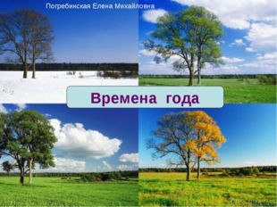 Времена года Погребинская Елена Михайловна
