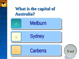 What is the capital of Australia?