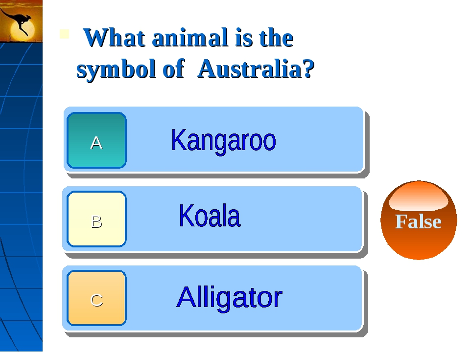 What animal is the symbol of Australia?