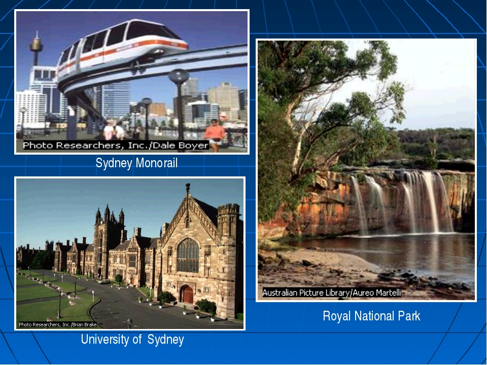Sydney Monorail Royal National Park University of Sydney