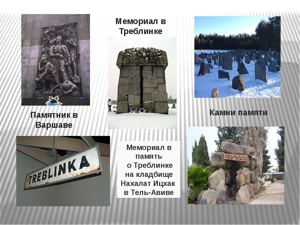 Памятник в Варшаве Мемориал в Треблинке Камни памяти Мемориал в память о Треб...