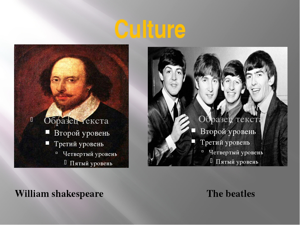 Culture William shakespeare The beatles