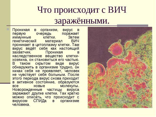 Что происходит с ВИЧ заражёнными. Проникая в организм, вирус в первую очередь...