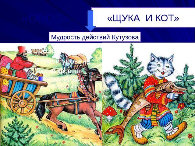 «ОБОЗ» «ЩУКА И КОТ» Мудрость действий Кутузова