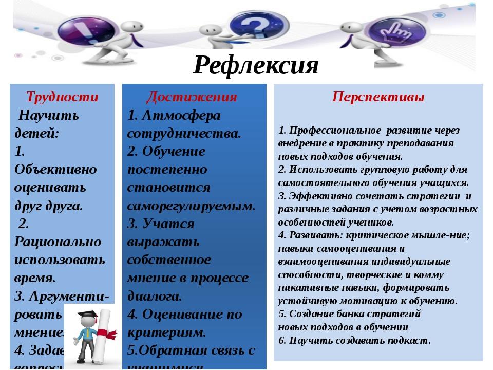 Перспективы 1. Профессиональное развитие через внедрение в практику преподава...