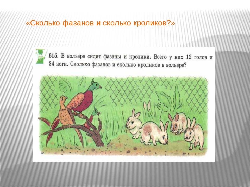 «Сколько фазанов и сколько кроликов?»