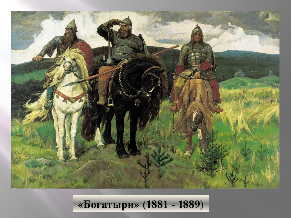 «Богатыри» (1881 - 1889)