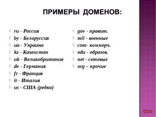ru - Россия by - Белоруссия ua - Украина kz - Казахстан uk - Великобритания d