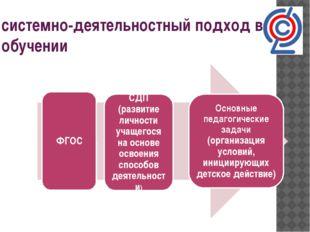 системно-деятельностный подход в обучении