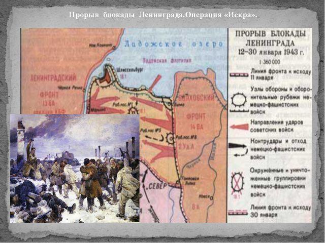 Прорыв блокады Ленинграда.Операция «Искра».
