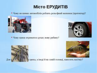 Місто ЕРУДИТІВ Чому на шинах автомобілів роблять рельєфний малюнок (протектор