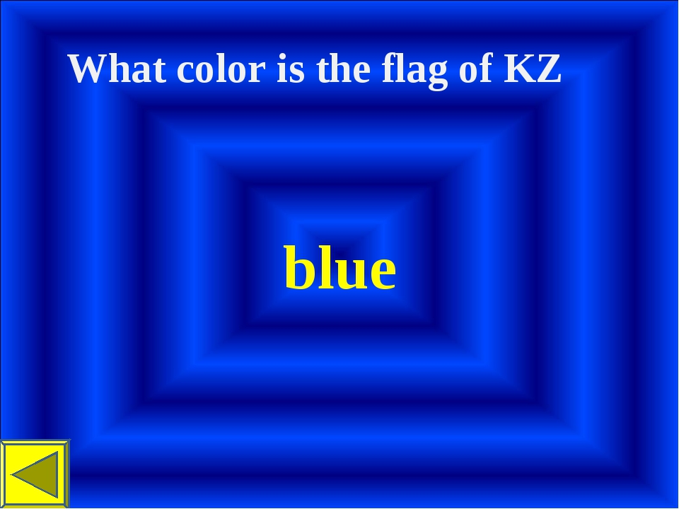 What color іs the flag of KZ blue