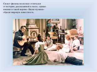 Сюжет фильма несколько отличался отистории, рассказанной впьесе, однако име