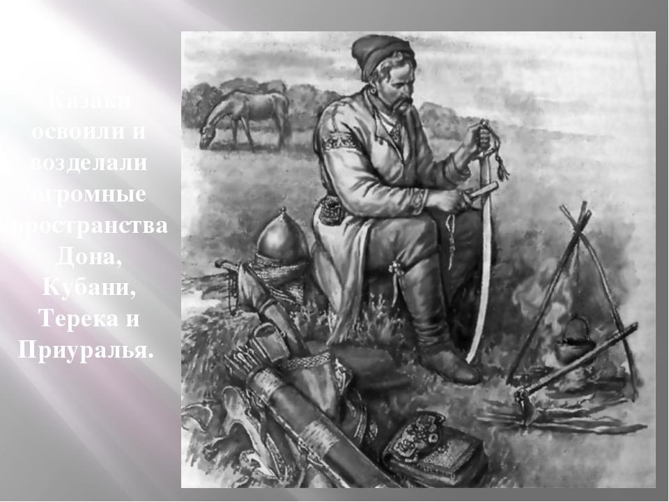Казаки освоили и возделали огромные пространства Дона, Кубани, Терека и Приур...