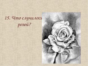 15. Что случилось с розой?
