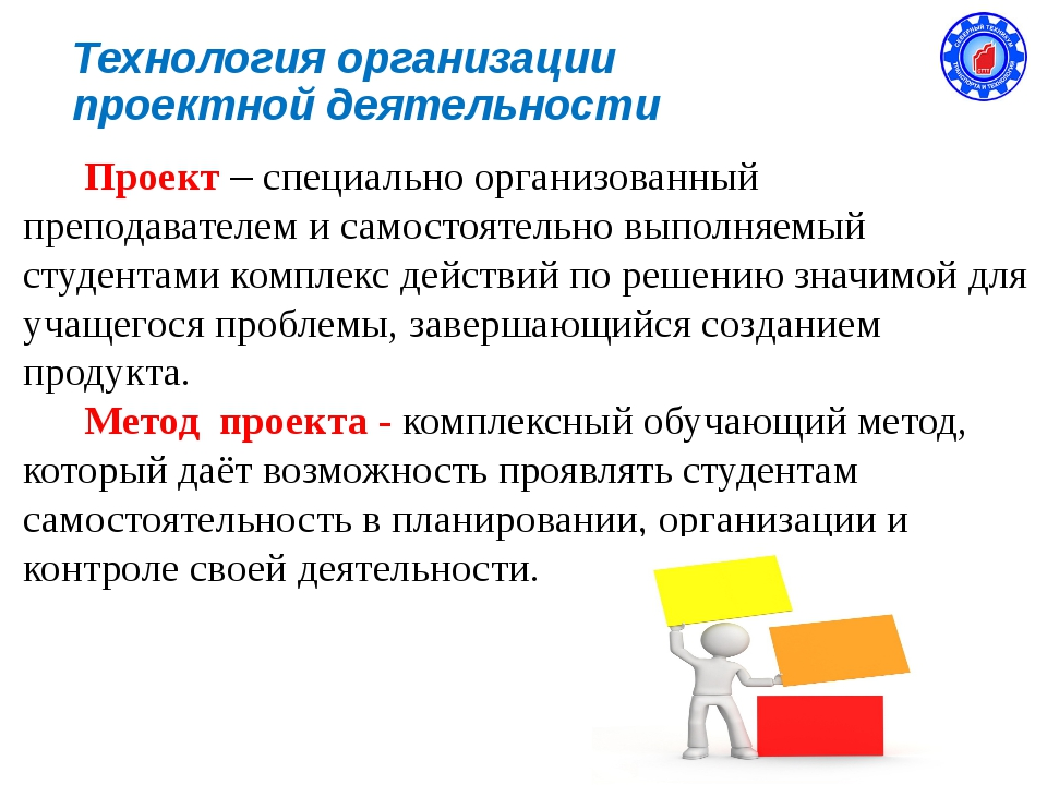 Технология организации проектной деятельности Проект – специально организован...