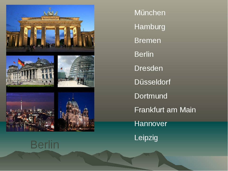 Berlin München Hamburg Bremen Berlin Dresden Düsseldorf Dortmund Frankfurt am...