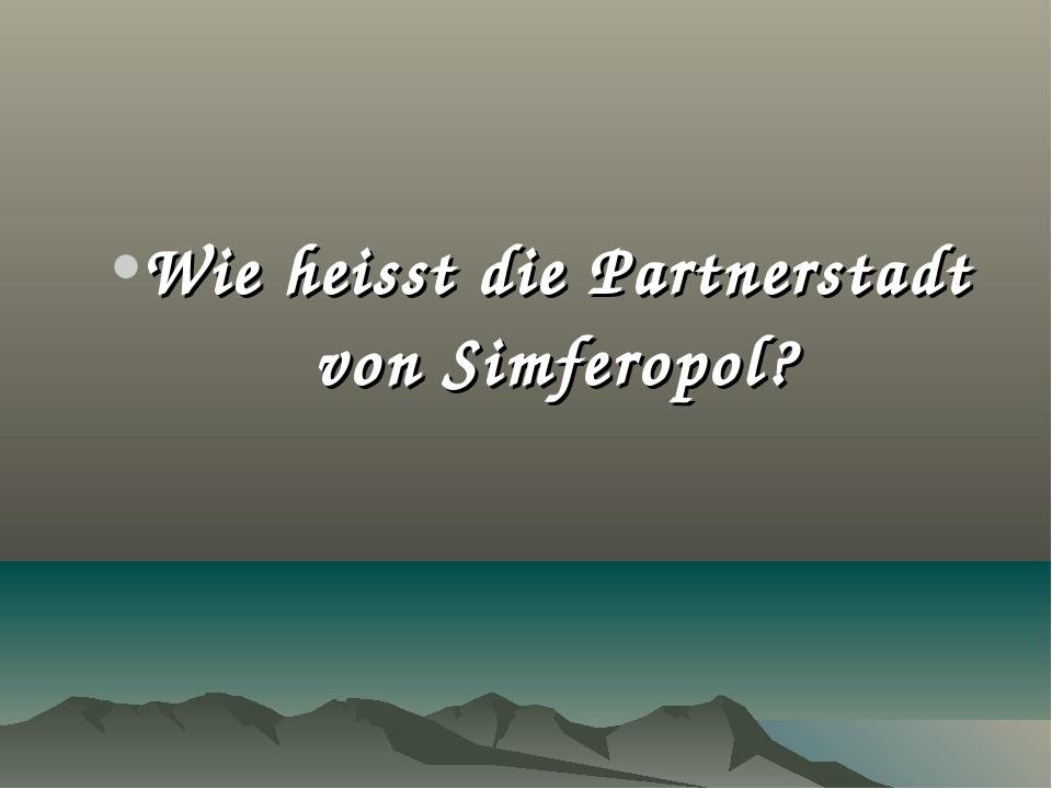 Wie heisst die Partnerstadt von Simferopol?