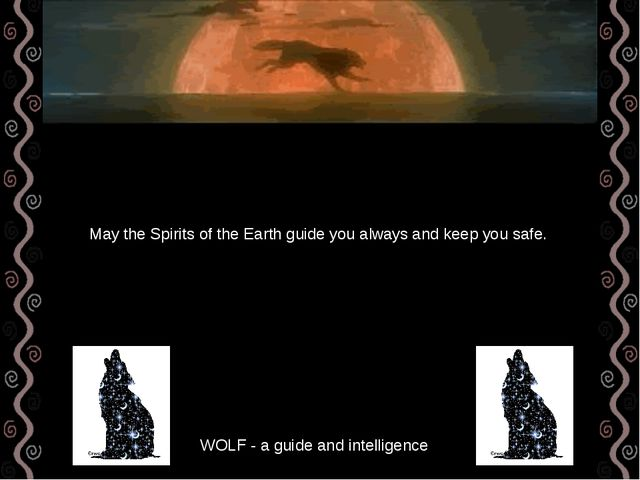 WOLF - a guide and intelligence May the Spirits of the Earth guide you always...