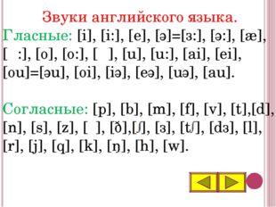 Звуки английского языка. Гласные: [i], [i:], [e], [ә]=[з:], [ә:], [æ], [α:],