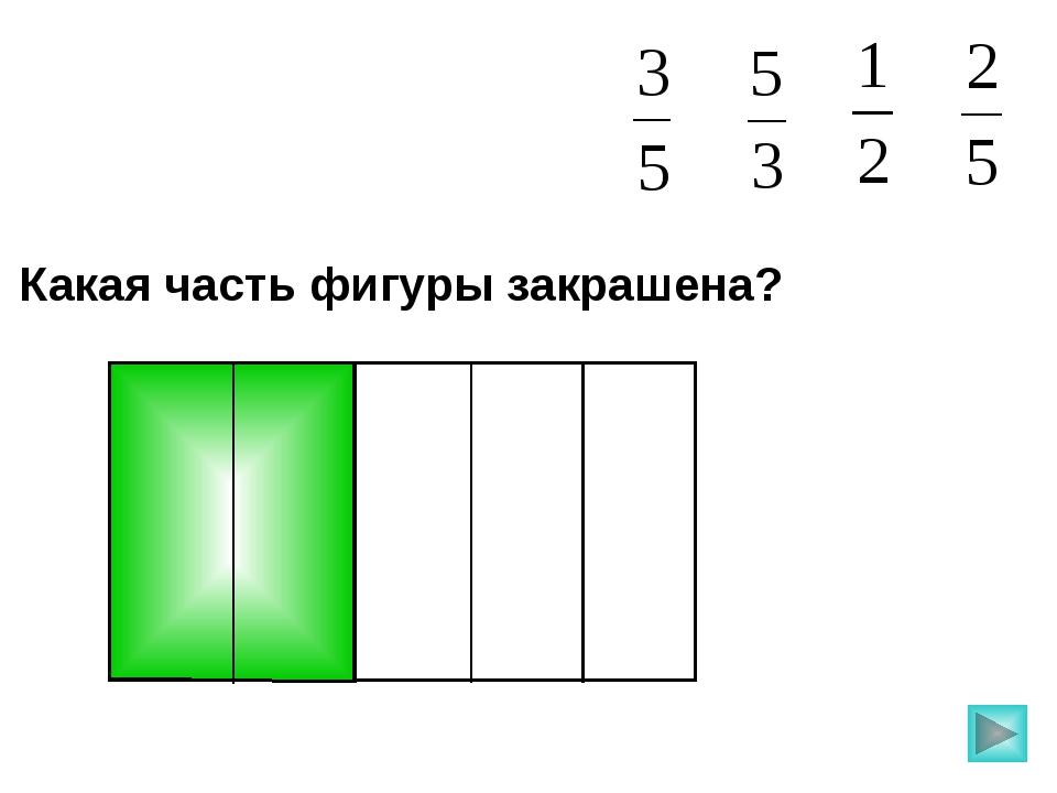 Какая часть фигуры закрашена? Пригласите к компьютеру ученика