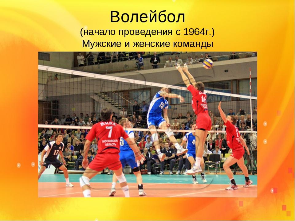 Волейбол (начало проведения с 1964г.) Мужские и женские команды