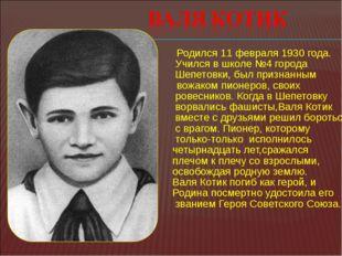 Родился 11 февраля 1930 года. Учился в школе №4 города  Шепетовки, был