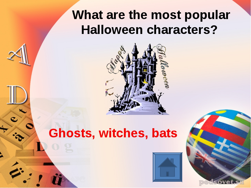 What are the most popular Halloween characters? Ghosts, witches, bats