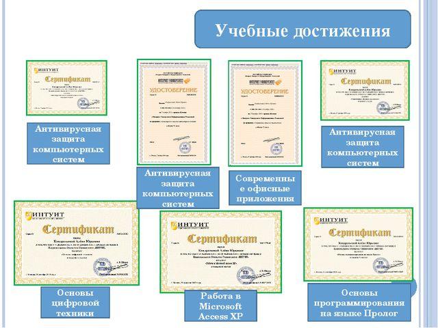 Учебные достижения I степени по поиску информации в сети Интернет, посвященно...