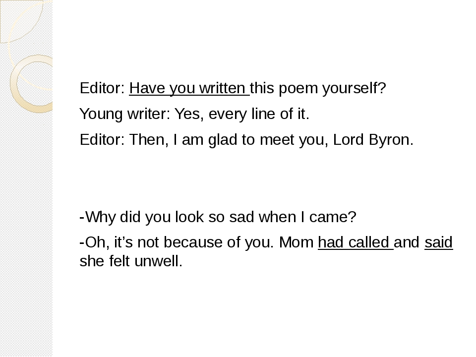 Editor: Have you written this poem yourself? Yo...