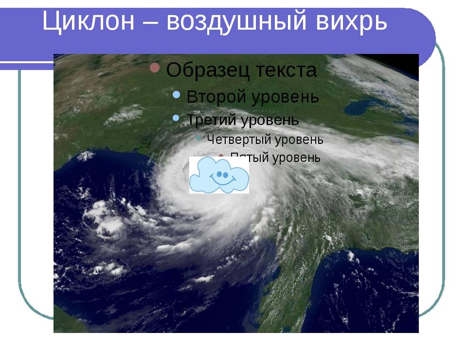 Циклон – воздушный вихрь