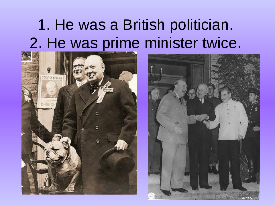 1. He was a British politician. 2. He was prime minister twice.