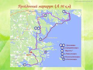 Пройденный маршрут (≈ 90 км)