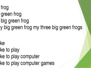 I I like I like to play I like to play computer I like to play computer games