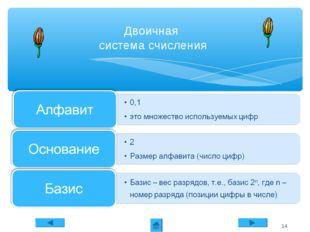 Двоичная система счисления *