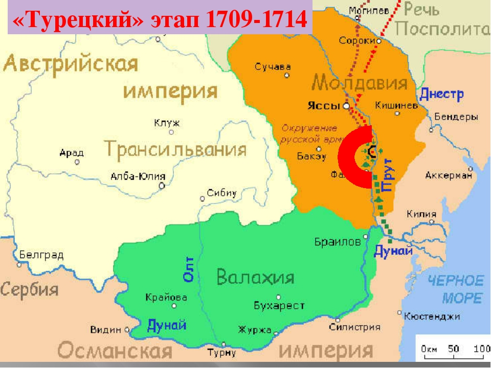 «Турецкий» этап 1709-1714